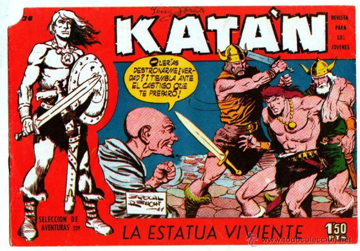 Tebeos: KATAN ORIGINALES NºS - 14-21-22-36 EDITORIAL TORAY 1958 por BROCAL REMOHI - Foto 2 - 54758284