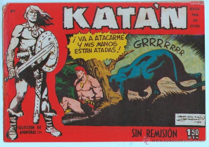 Tebeos: KATAN ORIGINALES NºS - 14-21-22-36 EDITORIAL TORAY 1958 por BROCAL REMOHI - Foto 4 - 54758284