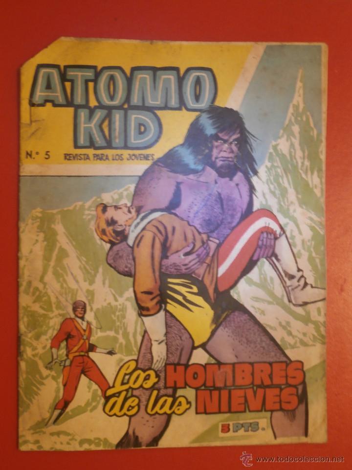 COMIC - ATOMO KID - Nº5 - LOS HOMBRES DE LAS NIEVES - ORIGINAL 1957 - EDICIONES TORAY (Tebeos y Comics - Toray - Otros)