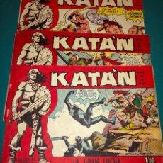 BDs: LOTE DE 3 COMICS KATAN, EDITORIAL TORAY, AÑO 1958, UNO DE ELLOS ES EL PENULTIMO DE LA COLECCIÓN. Lote 55378992