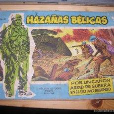 Tebeos: HAZAÑAS BÉLICAS, Nº VOL 67 POR: BOIXCAR-EDC: TORAY-ORIGINAL,AÑO 1958. Lote 55901575