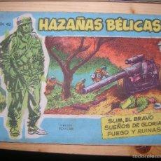 Tebeos: HAZAÑAS BÉLICAS, NºVOL 42 POR: BOIXCAR-EDC: TORAY-ORIGINAL,AÑO 1958. Lote 55902727