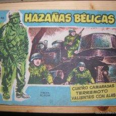 Tebeos: HAZAÑAS BÉLICAS, Nº VOL 43 POR: BOIXCAR-EDC: TORAY-ORIGINAL,AÑO 1958. Lote 55905045