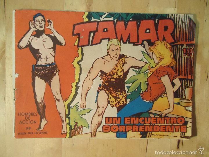 CÓMIC TAMAR HOMBRES DE ACCIÓN 58 UN ENCUENTRO SORPRENDENTE EDICIONES TORAY LOS ANIMALES Y SU MUNDO (Tebeos y Comics - Toray - Tamar)