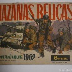 Tebeos: HAZAÑAS BELICAS - ALMANAQUE AÑO 1962- TORAY - BOIXCAT. Lote 57274039