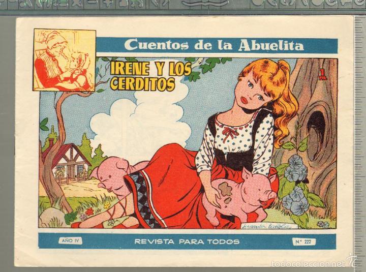 TEBEOS-COMICS GOYO - CUENTOS DE LA ABUELITA - Nº 222 - 1955 - DIFICIL *UU99 (Tebeos y Comics - Toray - Cuentos de la Abuelita)