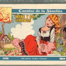 Tebeos: TEBEOS-COMICS GOYO - CUENTOS DE LA ABUELITA - Nº 222 - 1955 - DIFICIL *UU99. Lote 57493776