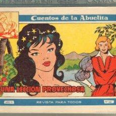 Tebeos: TEBEOS-COMICS GOYO - CUENTOS DE LA ABUELITA - Nº 262 - 1955 - DIFICIL *UU99. Lote 57493894