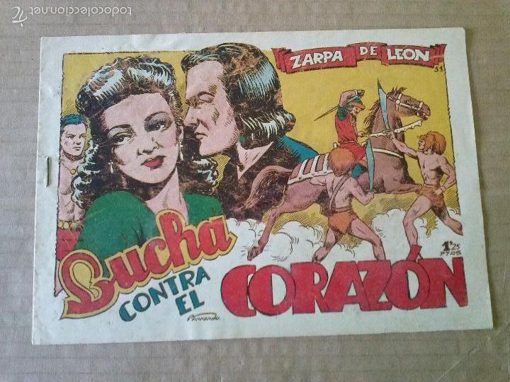 ZARPA DE LEON Nº 51 - TORAY -ORIGINAL -TA (Tebeos y Comics - Toray - Zarpa de León)
