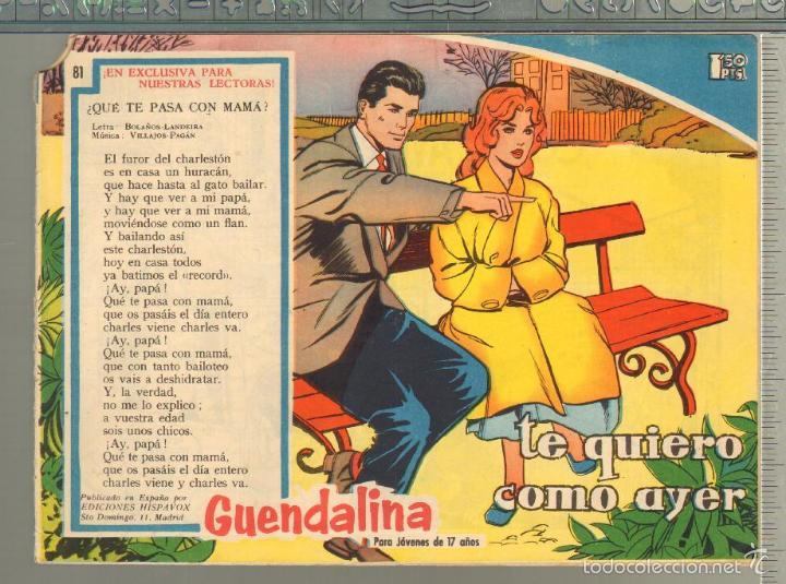 TEBEOS-COMICS GOYO - GUENDALINA - Nº 81 - TORAY - 1959 - DIFICIL *AA99 (Tebeos y Comics - Toray - Guendalina)