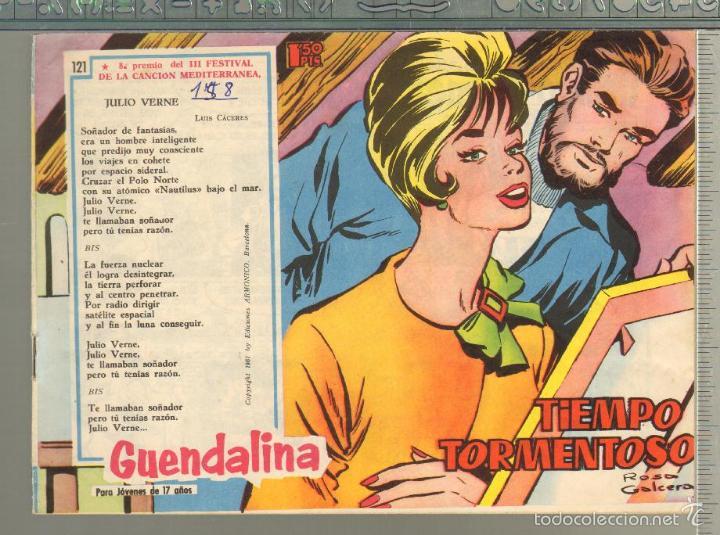 TEBEOS-COMICS GOYO - GUENDALINA - Nº 121 - TORAY - 1959 - DIFICIL *AA99 (Tebeos y Comics - Toray - Guendalina)