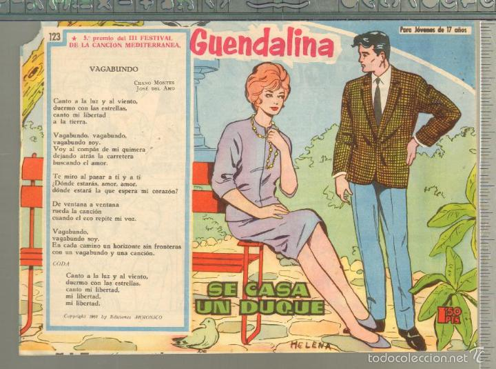 TEBEOS-COMICS GOYO - GUENDALINA - Nº 123 - TORAY - 1959 - DIFICIL *AA99 (Tebeos y Comics - Toray - Guendalina)