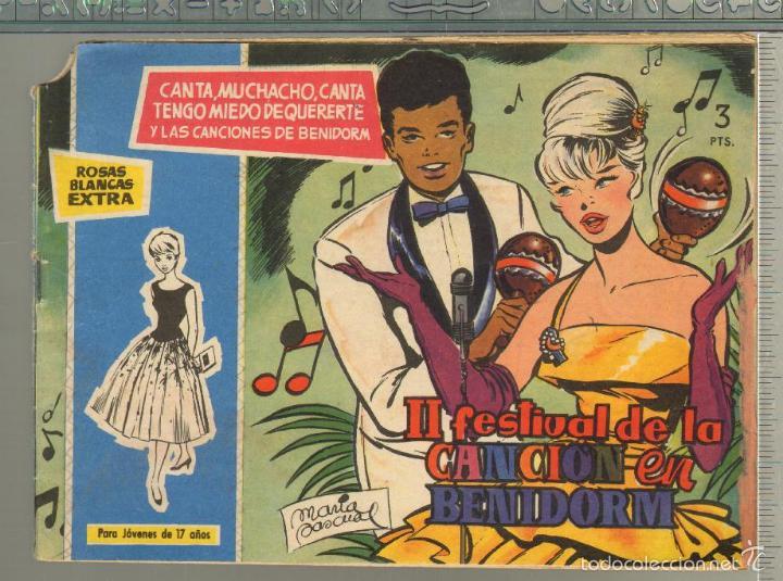 TEBEOS-COMICS GOYO - ROSAS BLANCAS - EXTRA 2º FESTIVAL CANCION BENIDORM - TORAY 1958 - DIFICIL *AA99 (Tebeos y Comics - Toray - Otros)
