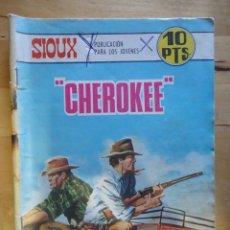 Tebeos: CÓMIC ANTIGUO PUBLICACIÓN PARA LOS JÓVENES SIOUX CHEROKEE EDICIONES TORAY, S.A. WESTERN OESTE. Lote 57507850