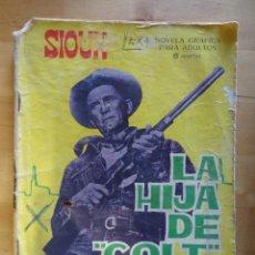 Tebeos: CÓMIC ANTIGUO PUBLICACIÓN PARA LOS JÓVENES SIOUX LA HIJA DE COLT CURTISS EDICIONES TORAY, S.A. OESTE. Lote 57508528