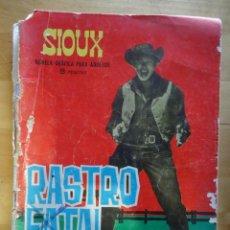 Tebeos: CÓMIC ANTIGUO PUBLICACIÓN PARA LOS JÓVENES SIOUX RASTRO FATAL EDICIONES TORAY, S.A. WESTERN OESTE. Lote 57508539