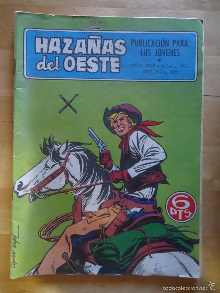 CÓMIC ANTIGUO HAZAÑAS DEL OESTE AÑO 1969 NÚM 193 LOS ESTAFADORES EDICIONES TORAY, S.A. WESTERN (Tebeos y Comics - Toray - Hazañas del Oeste)