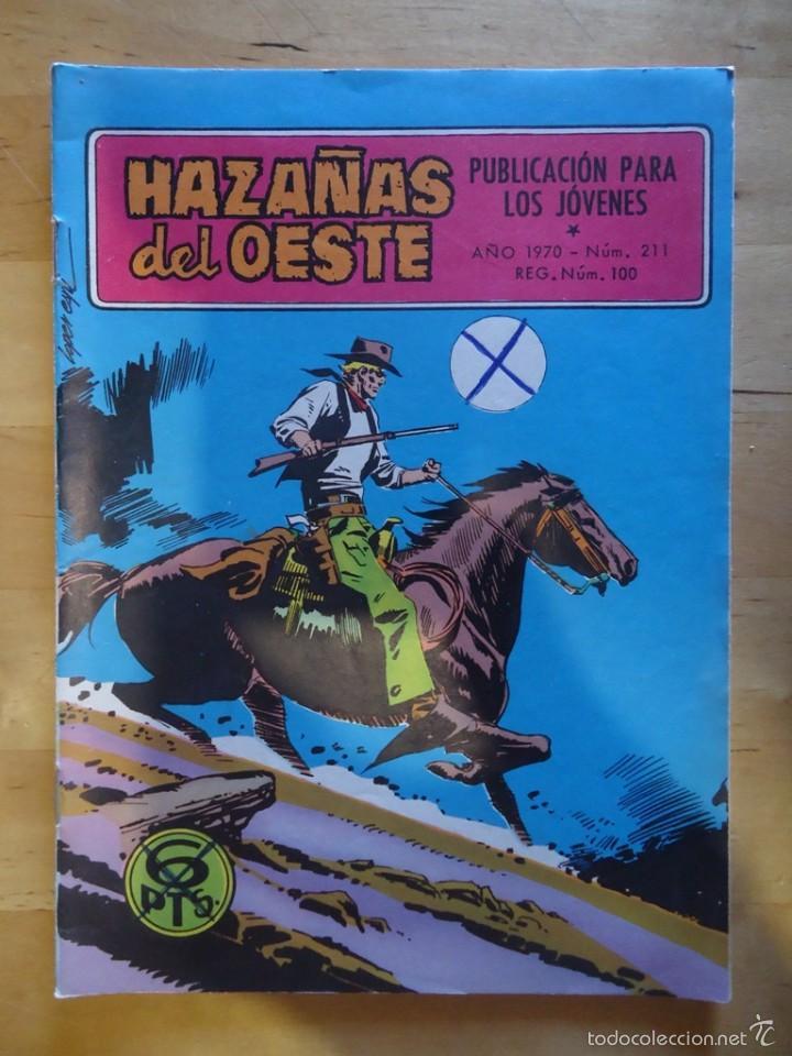 CÓMIC ANTIGUO HAZAÑAS DEL OESTE AÑO 1970 NÚM 211 VENIDO DEL ESTE EDICIONES TORAY, S.A. WESTERN (Tebeos y Comics - Toray - Hazañas del Oeste)
