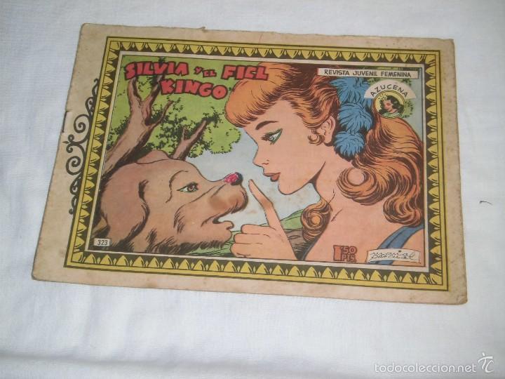 SILVIA Y EL FIEL KINGO COLECCION AZUCENA Nº 323 .-1958 (Tebeos y Comics - Toray - Azucena)