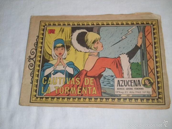 CAUTIVOS DE LA TORMENTA COLECCION AZUCENA Nº 932.-AÑO 1965 (Tebeos y Comics - Toray - Azucena)
