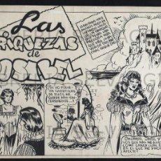 Tebeos - Colección Azucena. Dibujos Originales de Rosa galceran. 7 hojas. - 57709816