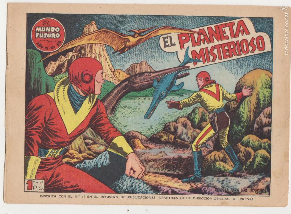 EL MUNDO FUTURO Nº 58. TORAY 1955. (Tebeos y Comics - Toray - Mundo Futuro)