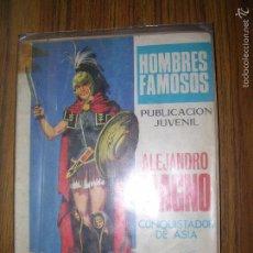 Tebeos: HOMBRES FAMOSOS ALEJANDRO MAGNO CONQUISTADOR DE ASIA Nº9 AÑO 1968. Lote 57912722