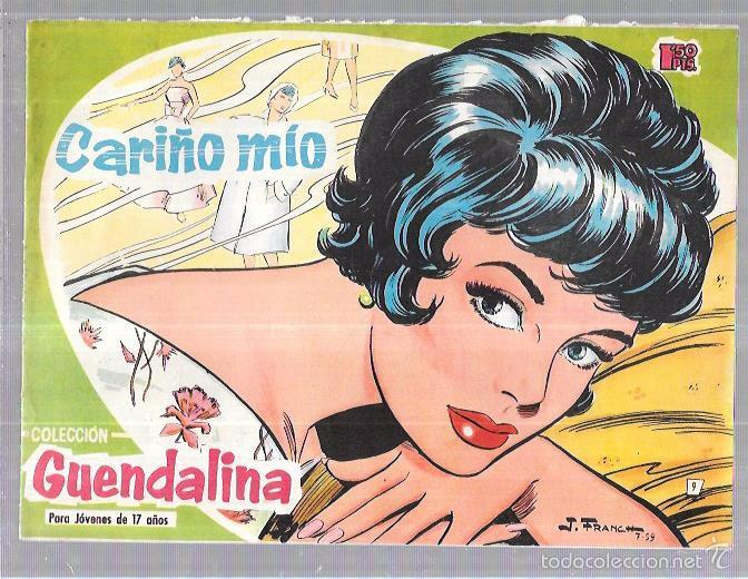 COLECCIÓN GUENDALINA. CARIÑO MÍO. Nº9. REVERSO: SOFÍA LOREN. (Tebeos y Comics - Toray - Guendalina)