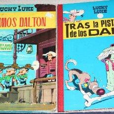 Tebeos: LUCKY LUKE (TORAY, LOMO TELA): LOS PRIMOS DALTON + TRAS LA PISTA DE LOS DALTON.. Lote 58007345