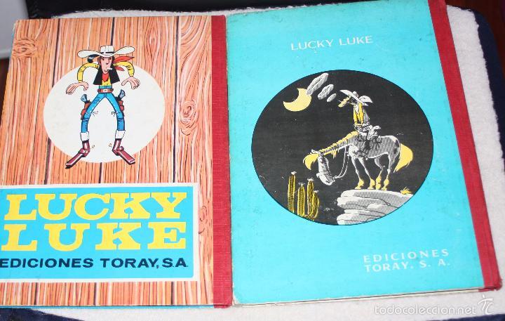 Tebeos: LUCKY LUKE (TORAY, LOMO TELA): LOS PRIMOS DALTON + TRAS LA PISTA DE LOS DALTON. - Foto 2 - 58007345