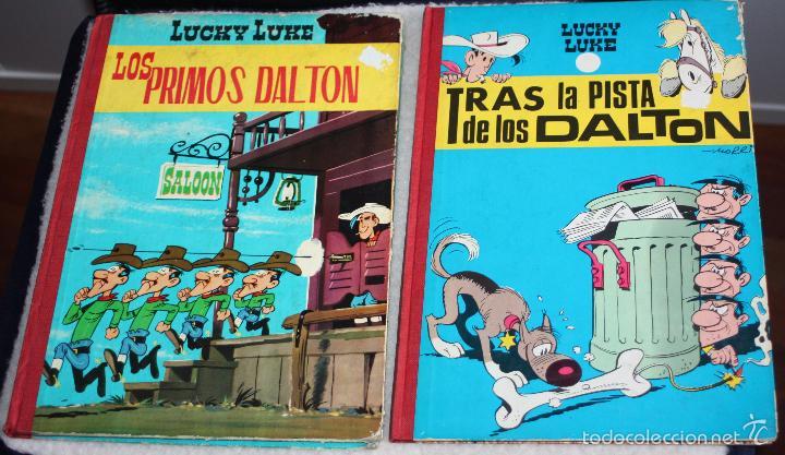 Tebeos: LUCKY LUKE (TORAY, LOMO TELA): LOS PRIMOS DALTON + TRAS LA PISTA DE LOS DALTON. - Foto 6 - 58007345