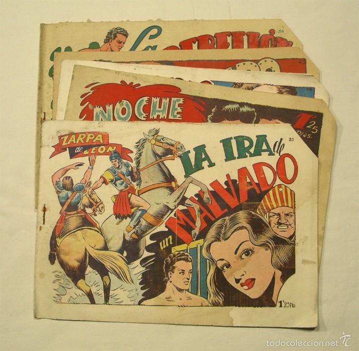 LOTE 5 CÓMICS ZARPA DE LEÓN Nº 23, 33, 39, 43 Y 56 (Tebeos y Comics - Toray - Zarpa de León)
