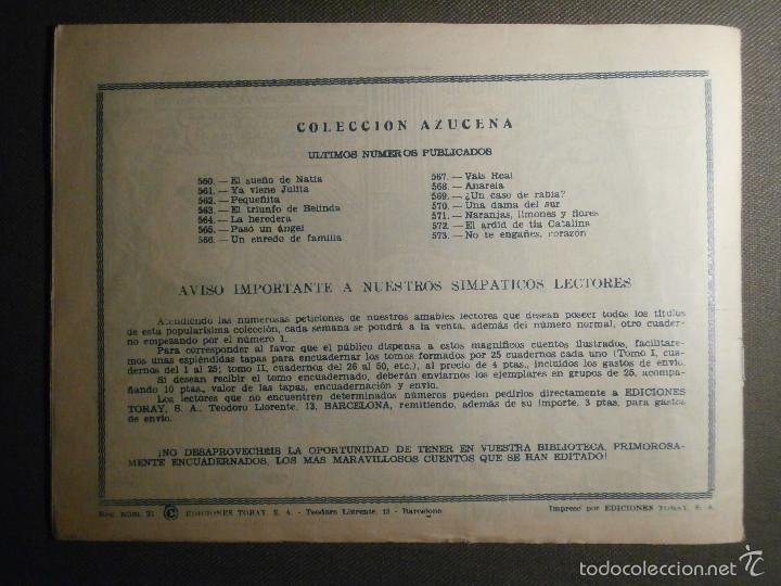 Tebeos: TEBEO - COMIC - COLECCION AZUCENA - NO TE ENGAÑES CORAZON - TORAY - AÑO XIV Nº 573 - - Foto 2 - 58598440