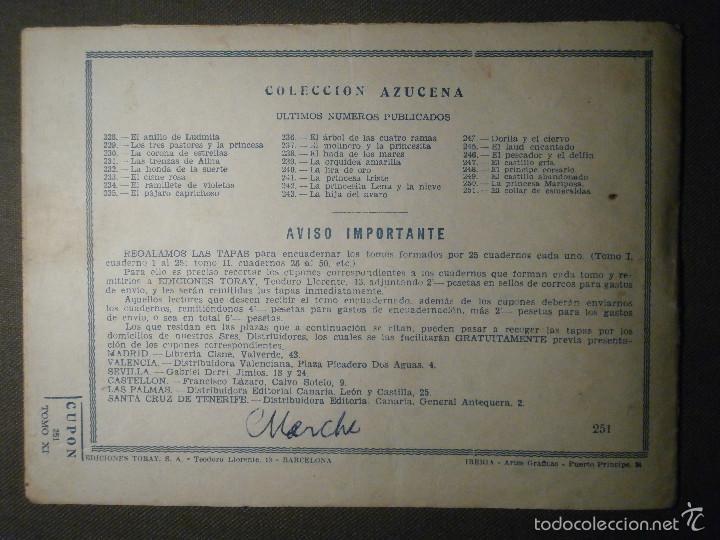 Tebeos: TEBEO - COMIC - COLECCION AZUCENA - EL COLLAR DE ESMERALDAS - TORAY - Nº 251 - Foto 2 - 58598683