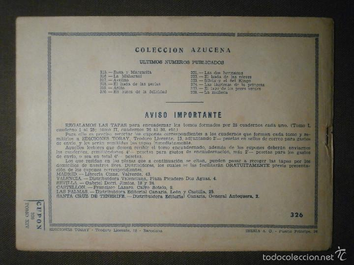Tebeos: TEBEO - COMIC - COLECCION AZUCENA - LA MUÑECA - TORAY - Nº 326 - Foto 2 - 58600609