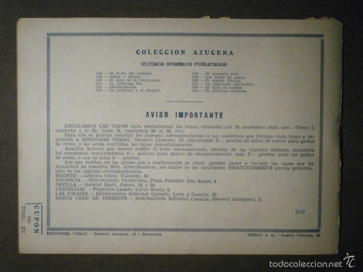 Tebeos: TEBEO - COMIC - COLECCION AZUCENA - EL PRINCIPE MIEDOSO - TORAY - Nº 359 - Foto 2 - 58600711