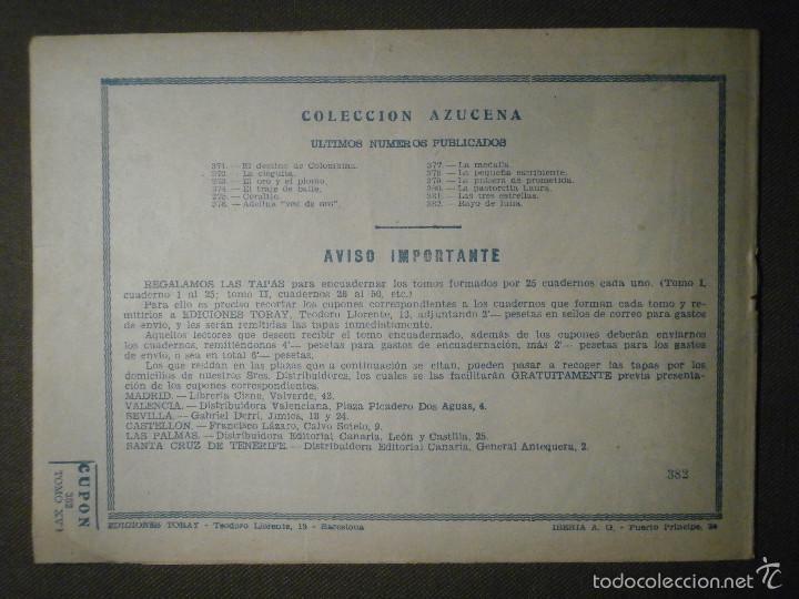 Tebeos: TEBEO - COMIC - COLECCION AZUCENA - RAYO DE LUNA - TORAY - Nº 382 - Foto 2 - 58600752