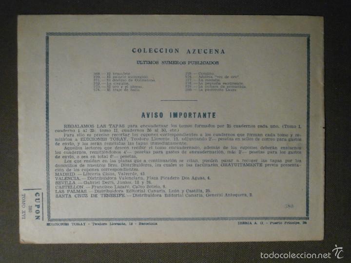 Tebeos: TEBEO - COMIC - COLECCION AZUCENA - LA PASTORCITA LAURA - TORAY - Nº 380 - Foto 2 - 58644714