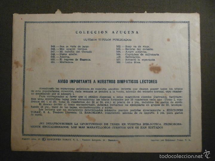 Tebeos: TEBEO - COMIC - COLECCION AZUCENA - LUNA ROSA - TORAY - AÑO XIV Nº 558 - Foto 2 - 58644727