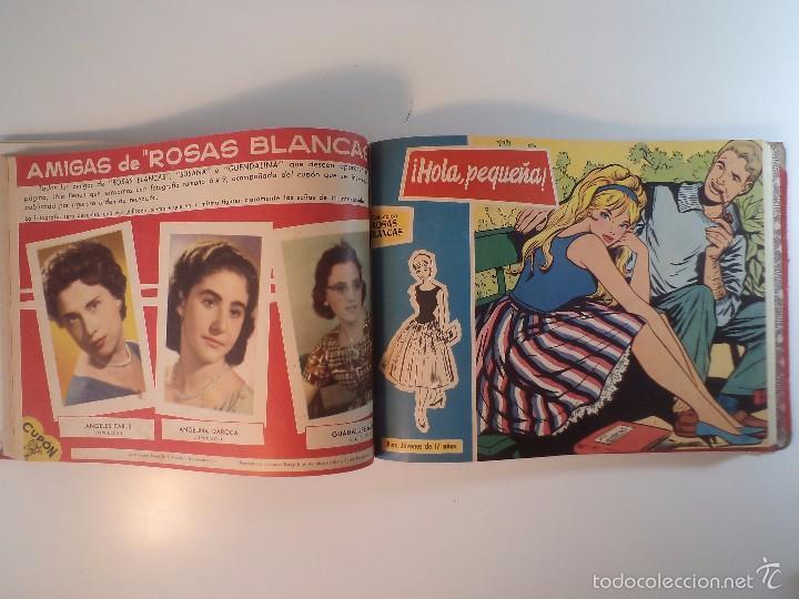 Tebeos: COLECCIÓN ROSAS BLANCAS. Un volumen con títulos que detallo, años 50 - Foto 2 - 58686749