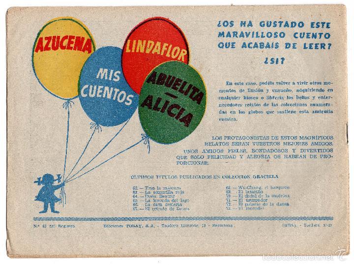 Tebeos: COLECCIÓN GRACIELA. EL INCENDIO. Nº 73. EDICIÓN TORAY - Foto 2 - 59459450