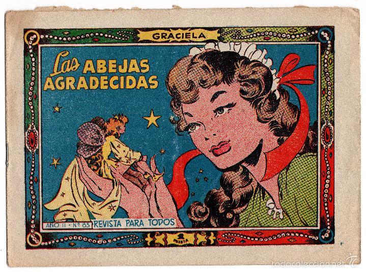 COLECCIÓN GRACIELA. LAS ABEJAS AGRADECIDAS Nº 83. EDICIÓN TORAY (Tebeos y Comics - Toray - Graciela)