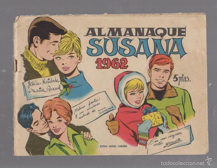 ALMANAQUE SUSANA. 1962. REVISTA JUVENIL FEMENINA (Tebeos y Comics - Toray - Susana)
