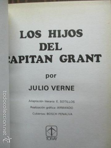Tebeos: HIJOS DEL CAPITÁN GRANT. JULIO VERNE. BOSCH PENALVA, SOTILLOS, ARMANDO. TORAY NOVELAS FAMOSAS Nº 8 - Foto 3 - 61219719