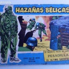 Tebeos: Nº171 LA MUERTE PASÓ D ELARGO-PESADILLA-EL ULTIMO SACRIFICIO HAZAÑAS BELICAS AÑO 1958 EDIT.TORAY. Lote 63551468