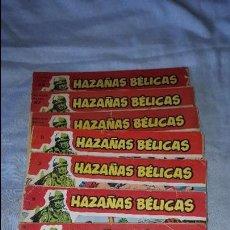 Tebeos: LOTE HAZAÑAS BELICAS ROJA - Nº 10-18-21-30-63-67-80. Lote 64173535