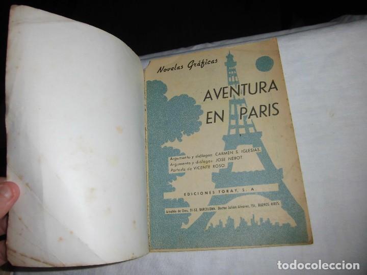 Tebeos: AVENTURA EN PARIS.CARMEN IGLESIAS/JOSE NEBOT.EDICIONES TORAY.-1966 - Foto 2 - 65947754