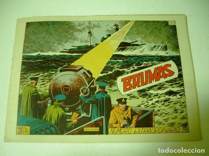 HAZAÑAS BELICAS NUMERO EXTRAORDINARIO Nº 153 BRUMAS ORIGINAL (Tebeos y Comics - Toray - Hazañas Bélicas)