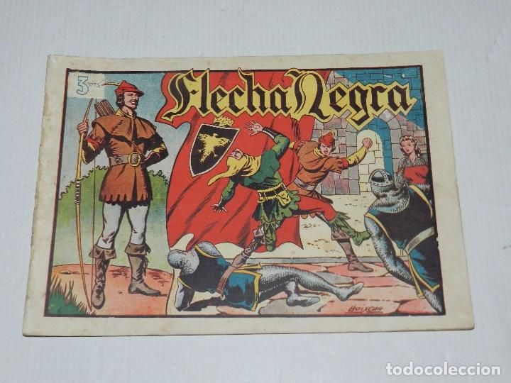 (M3) FLECHA NEGRA NUM 1 , EDICIONES TORAY, LOMO CON ROTURITAS (Tebeos y Comics - Toray - Flecha Negra)