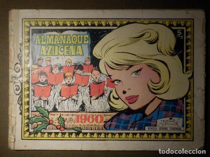 TEBEO - COMIC - COLECCION AZUCENA - ALMANAQUE 1960 - EDICIONES TORAY (Tebeos y Comics - Toray - Azucena)